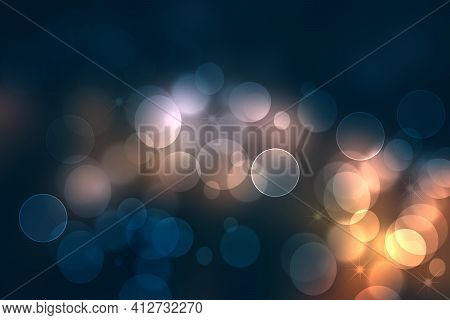 Abstract Scene In Universe. Abstract Gradient Dark Blue To Light Blue Pink Space Cosmos Universe Bac