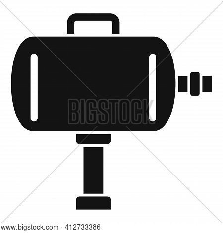 Tire Fitting Air Compressor Icon. Simple Illustration Of Tire Fitting Air Compressor Vector Icon For