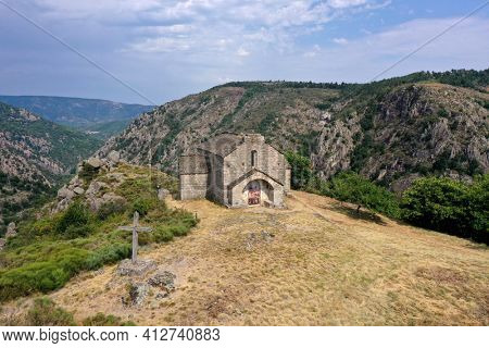Chapel Saint-Loup at Villefort on the mountain top. Seventeenth century.