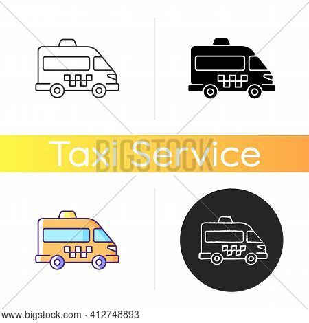 Shuttle Buses Icon. Convenient Means Of Transportation Around The City. Travel By Company. Alternati