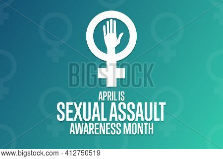April Is Sexual Assault Awareness Month. Holiday Concept. Template For Background, Banner, Card, Pos