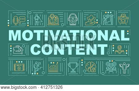 Motivational Content Word Concepts Banner. Inspiring To Break Habits Infographics With Linear Icons