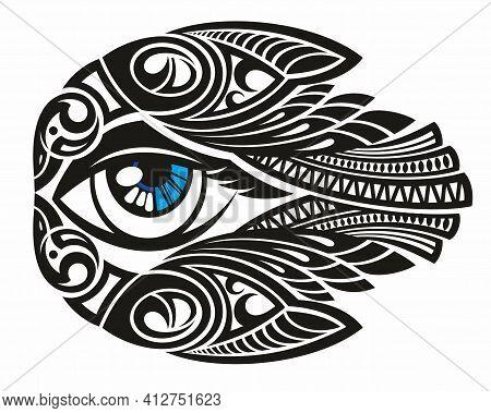 Blackwork Tattoo Flash. Eye Of Providence. Eye Symbol.