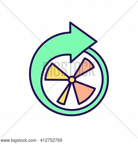 Intermittent Fasting Periods Rgb Color Icon. Clock With Arrow. Dieting Period. Time Management. Eati