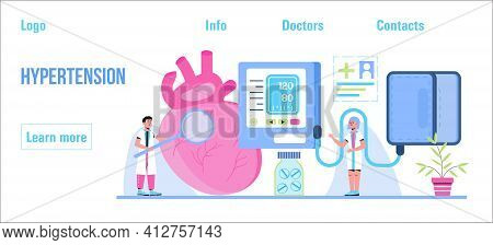 Hypotension And Hypertension Disease Tiny Doctors Treat. Symptoms And Prevention Blood Pressure Heal