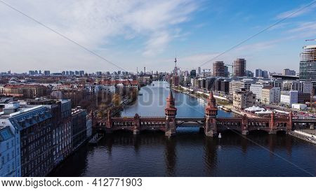 River Spree In The City Of Berlin With Oberbaum Bridge - Urban Photography