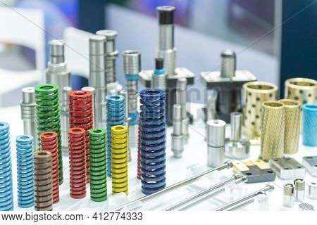 The Group Of Compression Spring For Mold And Die Manufacturing Process. The Standard Parts Of Mold A