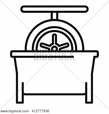 Tire Fitting Calibration Icon. Outline Tire Fitting Calibration Vector Icon For Web Design Isolated