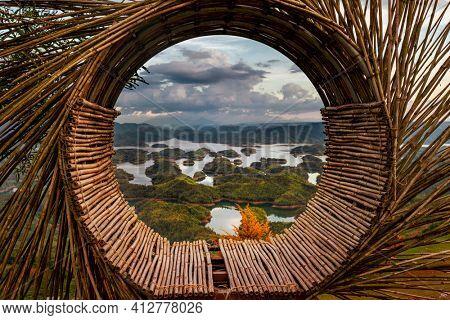 Amazing view of Ta Dung lake. Vietnam. Landscape