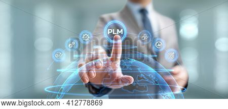 Project Lifecycle Management Software System Technology Concept.