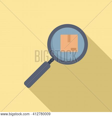 Search Missed Parcel Icon. Flat Illustration Of Search Missed Parcel Vector Icon For Web Design