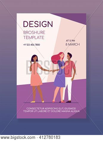Boyfriend Being Unfaithful To His Girlfriend. Wife, Lie, Hand Flat Vector Illustration. Betrayal And