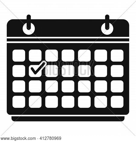 Purchasing Manager Calendar Icon. Simple Illustration Of Purchasing Manager Calendar Vector Icon For