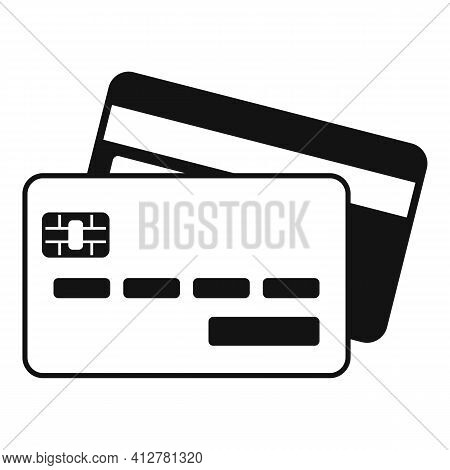 Credit Cards Icon. Simple Illustration Of Credit Cards Vector Icon For Web Design Isolated On White