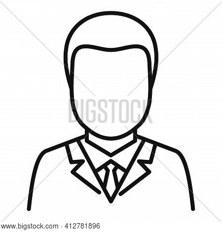 Purchasing Manager Icon. Outline Purchasing Manager Vector Icon For Web Design Isolated On White Bac