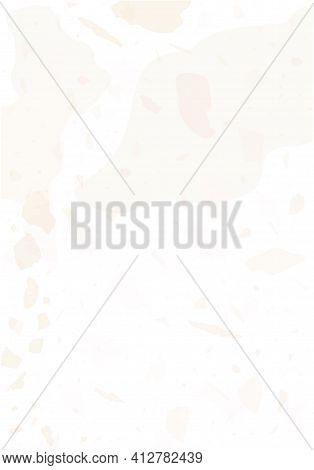 Terrazzo Modern Abstract Template. Pink And Beige