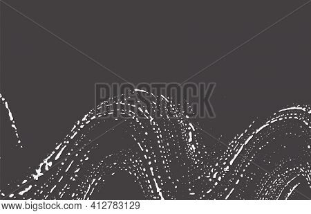 Grunge Texture. Distress Black Grey Rough Trace. A