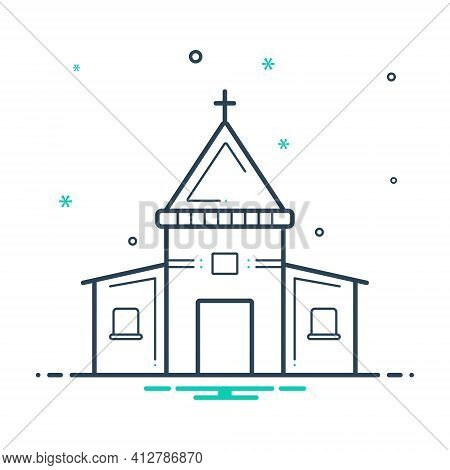 Mix Icon For Holy Place Stead Collocation Religion Worship Sacred
