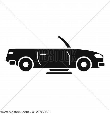 Hybrid Cabriolet Car Icon. Simple Illustration Of Hybrid Cabriolet Car Vector Icon For Web Design Is