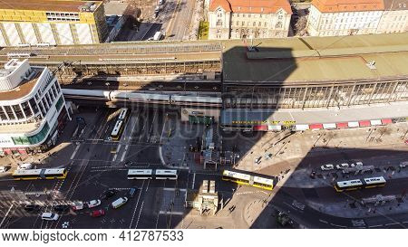 Zoo Railway Station In Berlin Called Bahnhof Zoo - Berlin, Germany - March 11, 2021