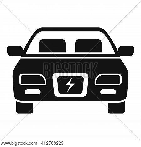 Modern Hybrid Car Icon. Simple Illustration Of Modern Hybrid Car Vector Icon For Web Design Isolated