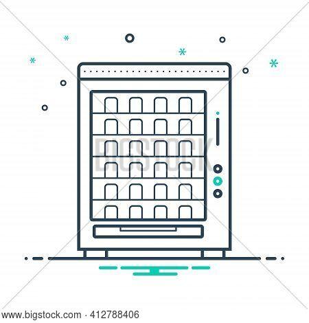 Mix Icon For Vending Machine Merchandise Trading Appliances