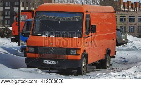 Ust-kamenogorsk, Kz - March 15, 2021. Car Mercedes-benz Tn (t1).
