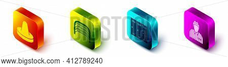 Set Isometric Mallet For Playing Air Hockey, Ice Hockey Goal, Locker Or Changing Room And Hockey Jud