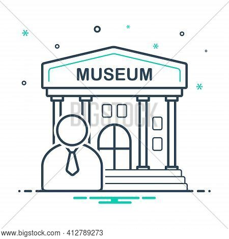 Mix Icon For Museum Guide Museum Cicerone  Museum Teacher