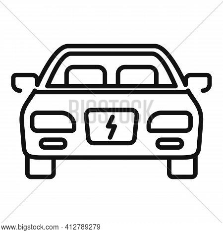 Modern Hybrid Car Icon. Outline Modern Hybrid Car Vector Icon For Web Design Isolated On White Backg