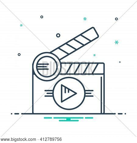Mix Icon For Short Films Theater Clapperboard Premiere Cinematography