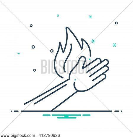Mix Icon For Burn Burnout Injury  Burn-hand Pain