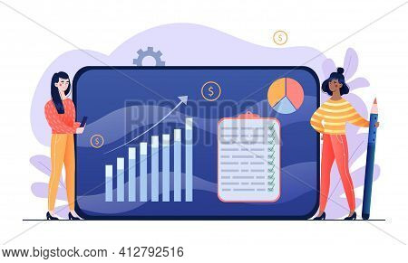 Two Male Financial Analysts Are Working On Balanced Budget. Concept Of Budget Planning, Company Budg
