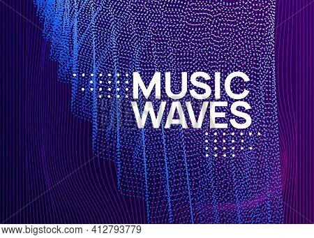 Night Music Flyer. Electro Dance Dj. Electronic Sound Fest. Tech
