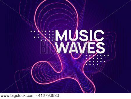 Gradient Party Flyer. Electro Dance Music. Electronic Trance Sou