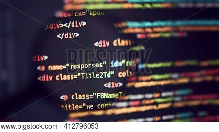 Programming code background. Abstract code background