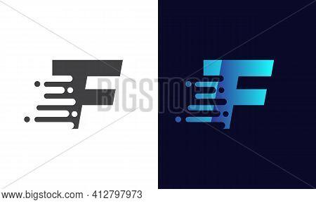 Modern F Letter Speed Logo Design. Creative Unique Elegant Geometric, Minimal Fashion Brand F Letter