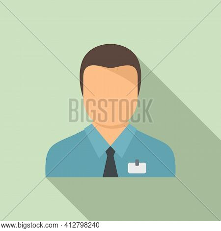 Shop Assistant Icon. Flat Illustration Of Shop Assistant Vector Icon For Web Design