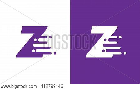 Letter Z Speed Logo Design Element. Abstract Letter Z Logo Design Template. Universal Fast Speed, Qu