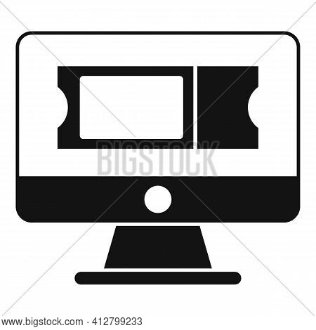Online Trip Ticket Icon. Simple Illustration Of Online Trip Ticket Vector Icon For Web Design Isolat