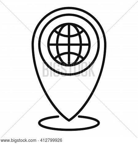 Travel Location Icon. Outline Travel Location Vector Icon For Web Design Isolated On White Backgroun