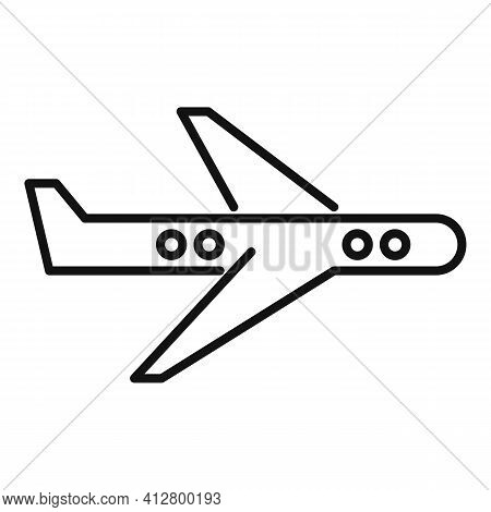 Tourism Plane Icon. Outline Tourism Plane Vector Icon For Web Design Isolated On White Background