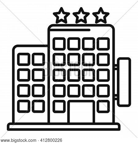 Trip Hotel Icon. Outline Trip Hotel Vector Icon For Web Design Isolated On White Background