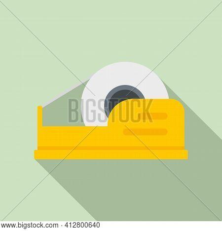 Dispenser Scotch Icon. Flat Illustration Of Dispenser Scotch Vector Icon For Web Design