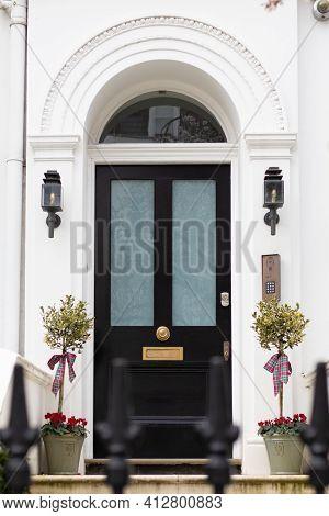 Kensington, London, England, United Kingdom - March 05 2021: Tree Blossoming At 45 Argyll Rd (w8 7da