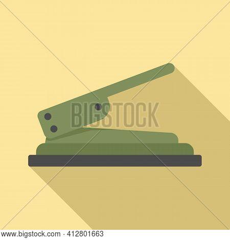 Craft Hole Puncher Icon. Flat Illustration Of Craft Hole Puncher Vector Icon For Web Design