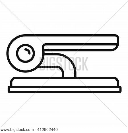 Documents Hole Punch Icon. Outline Documents Hole Punch Vector Icon For Web Design Isolated On White