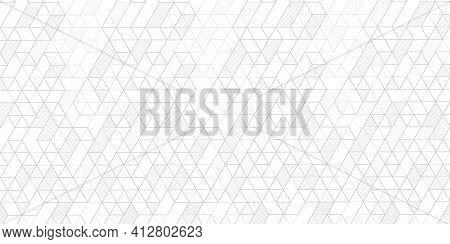 Technology White Background .geometric Rhombuses.abstract Tech.technical Drawing.vector .