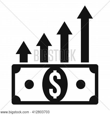 Financial Growing Icon. Simple Illustration Of Financial Growing Vector Icon For Web Design Isolated