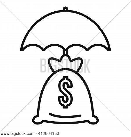 Economic Crisis Icon. Outline Economic Crisis Vector Icon For Web Design Isolated On White Backgroun